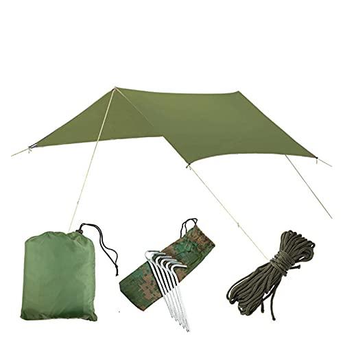 KJBGS Toldo 3MX3M Sol Impermeable Sol Tienda Tar Tarp Anti UV Playa Tienda Camping Hamaca Lluvia Mosca Mosca al Aire Libre Sombrilla Toldos Toldo Sombra Fuerte y Robusto (Color : Green)