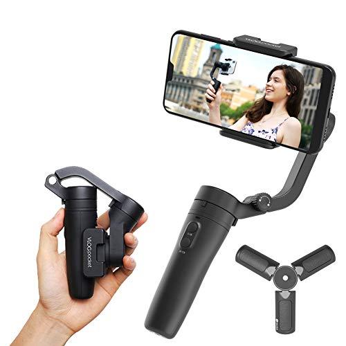 FeiyuTech Stabilizzatore cardanico palmare pieghevole a 3 assi tascabile Vlog per tutti gli smartphone con larghezza compresa tra 42 e 88 mm, abbinabile a custodia, treppiede e asta di prolunga