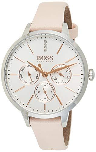 Hugo Boss Unisex Multi Zifferblatt Quarz Uhr mit Leder Armband 1502419