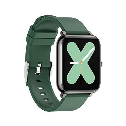 RNNTK Fitness Smartwatch,Herren Damen Aktivitäts-Tracker Smart Watch Mit Schlafen Pulsuhren,1.3in HD Farbbildschirm Schritt Kalorienzähler Sportuhr Zum Android IOS-Grün