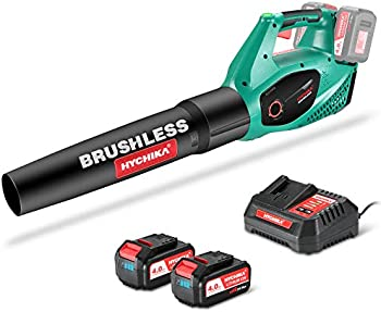 Hychika 40V Cordless Leaf Blower with 4.0Ah Li-ion Batteries & Charger