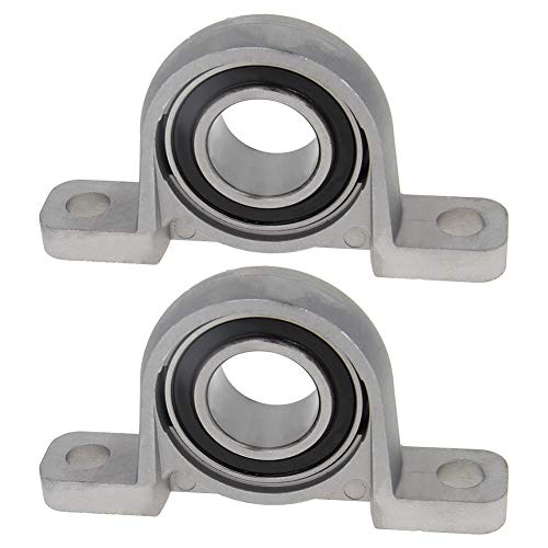 Othmro KP006 flanged Pillow Block Bearing, 30mm Bore Diameter, Bearing Steel + cast Iron Set Screw Lock 2pcs