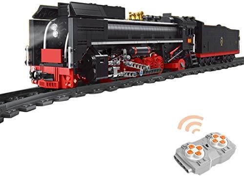Technic Building Blocks Tren con Motor, Locomotora Eléctrica, Tren Histórico Expreso con Motor Juguetes De Construcción Compatibles con Lego, 1552 Piezas