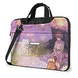 Yusanbaihuodian - Bolso bandolera para ordenador portátil Anime Konohana Kitan, bolsas de bandolera para ordenador portátil con correa ajustable y bolsas de trabajo de 15,6 pulgadas