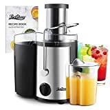 Betitay Juicer, Juice Extractor with Recipe Book, BPA Free Dishwasher Safe Centrifugal Juicer Machine Juice Maker with Wide Feeding Mouth, Dual Speed, Easy to Cleaning Brush for Fruits and Vegetables