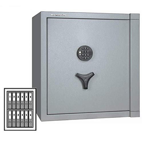 Wertheim Wertschutzschrank BP20, Elektronikschloss M-Locks EM3520 inkl. Notstromversorgung, Grad 2 nach EN 1143-1, 30 Minuten Brandschutz, H79.9xB60.5xT52.2 cm, 280 kg
