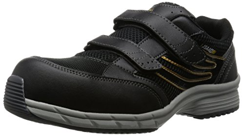 [ミドリ安全] 安全作業靴 JSAA認定 静電気帯電防止 耐滑 マジックタイプ プロスニーカー SLS705 静電 メンズ ブラック JP 26.0(26cm)