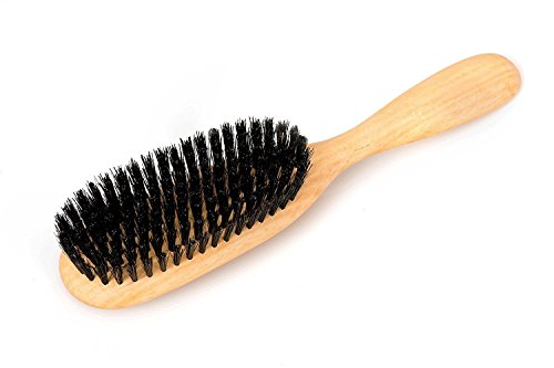 LUQX Haarbürste Spezial, Wildschweinborste - Langhaarbürste aus Buchenholz