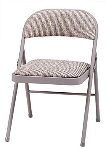 Deluxe Klappstuhl aus gepolstertem Stahlgewebe - Braun94 x 47 x 7 cm