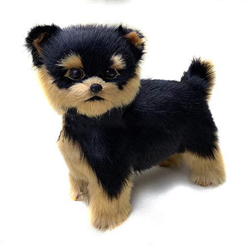 Monkys realistische Tierfigur, Simulation Hund Plüschtier Hund Welpe Lebensecht Gefülltes Begleitspielzeug Haustier Hund Puppen Spielzeug (9 * 8,5 Zoll, L * H)