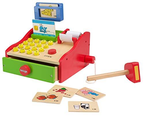Beluga speelgoed 77027 - kas van hout met accessoires