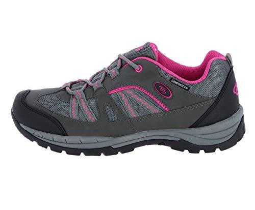 Brütting Damen Sportschuhe Fresno,Outdoor Schuhe,lose Einlage,wasserdicht,atmungsaktiv, Trekkingschuhe,anthrazit/pink,41 EU