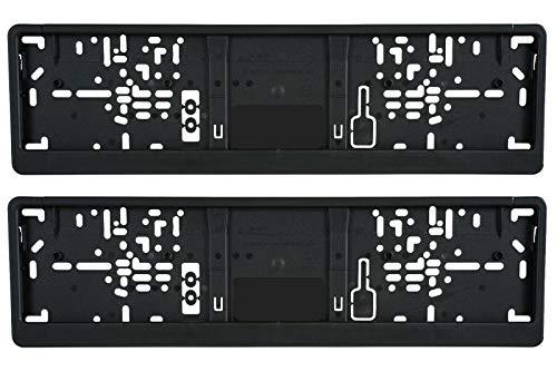 3D Carbon Design 2X Kurz Kennzeichenhalter Schwarz 46 11 460 x 110 mm Für Auto Kennzeichen 46 11 460 x 110 mm/Mit Schwarze Rand