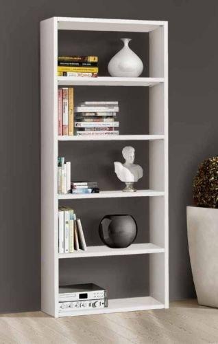 Legno&Design Bibliothèque étagère Porte CD Porte DVD Blanc frassinato 5 éléments