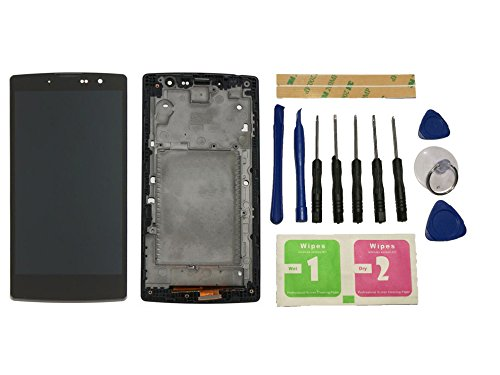 Flügel para LG G4c H525N H525 H522Y H520Y H502 Y90 Pantalla LCD pantalla Negro Táctil digitalizador Completo Pantalla ( con marco ) de Recambio & Herramientas
