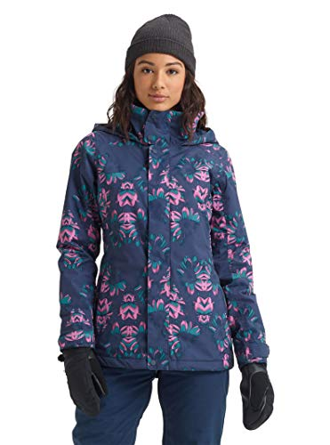 Burton Damen Skijacke Jet Set Winter, Damen, Women's Jet Set Jacket, Dress Blue Stylus, Medium