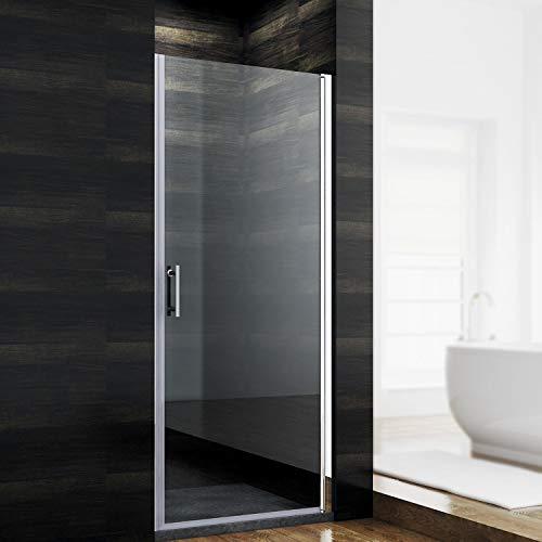 SONNI Duschkabine 80 x 185 cm Nano nischentür dusche glastür dusche pendeltür dusche duschtrennwand