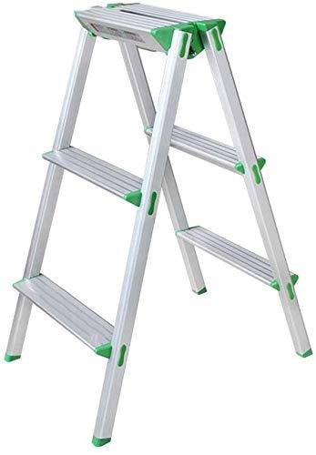 ZSPSHOP Duty Folding Aluminium Multi Purpose Work Platform 3 Step Up/Hop Up Kruk Ladder Werk Bank Decorators DIY - Lichtgewicht en draagbaar/Gemakkelijk te reinigen en Roest vrij (Maat: 42.5 * 63.5 * 78.5cm)