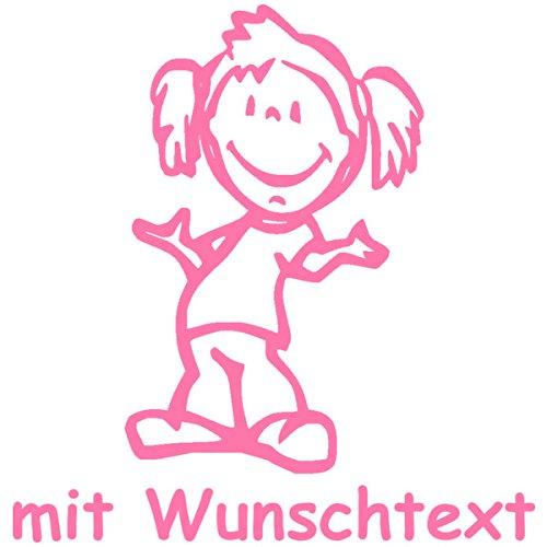XL Babyaufkleber mit Name/Wunschtext - Motiv 406 (25 cm)