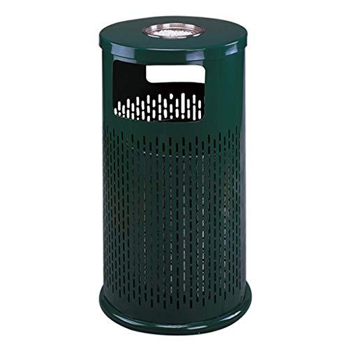 NYKK Cubo de Basura Bote de Basura al Aire Libre/Interior con el cenicero, Bote de Basura Grande del Parque del Compartimiento de Reciclaje Papelera Exterior (Size : B)
