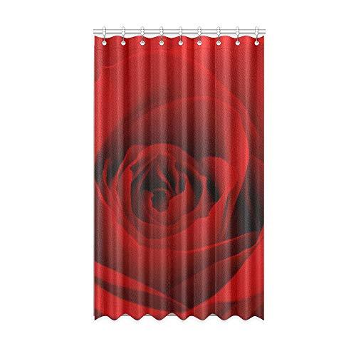 Rideaux de Chambre à Coucher pour Filles Close Up Photo de Fleur de Rose Rouge 128910530 Rideau de fenêtre Fille 50 X 84 Pouces Une pièce pour Porte coulissante en Verre pour Patio/Chambre à Couche