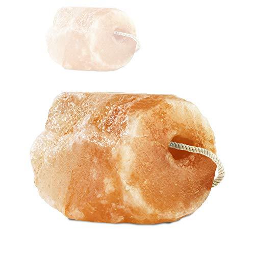 """Hochwertiger Salzleckstein """"Himalaya"""" 1 x Leckstein mit Kordel, insgesamt ca. 4-5 kg, für Pferde, Schafe, Rinder, Wild, Viehsalz - Mineralleckstein - Premium Leckstein"""