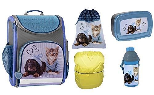 SCOOLSTAR Frozen-SET-3t-small - Set de útiles Escolares Niños Gris Azul 5 -Teilig