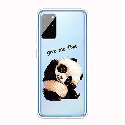 Miagon Transparent Hülle für Samsung Galaxy A51,Panda Muster Kreativ Süße Durchsichtig Klar Soft Ultra Dünn Silikon Case Cover Schutzabdeckung