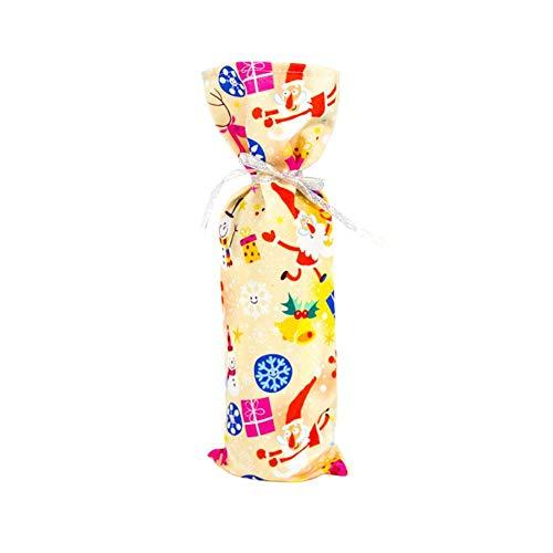 Noete 5 Stück 35 * 12CM Weihnachten Weinflaschen Taschen Geschenk Weinliebhaber für Partys/Tischdekoration/Geschenke für Familie Freunde.