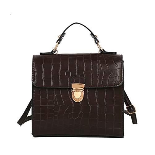SUCES Damen Quadratische Messenger Frauen Vintage Krokodil Muster Handtasche Schultertasche Kleine Tasche Geldbörse Damentasche Ledertasche Henkeltaschen Sale
