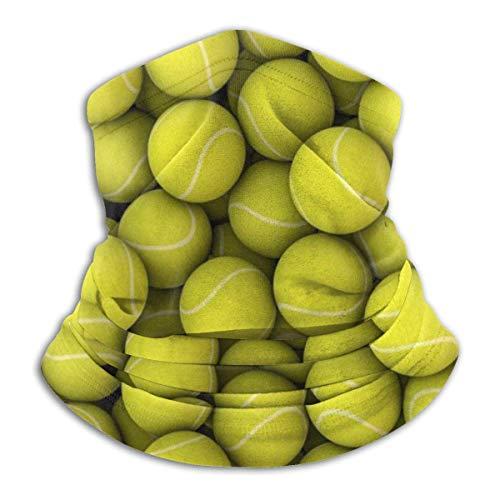 ShiHaiYunBai Tour de Cou Cagoule Microfibre Chapeaux Tube Masque Visage, Fleece Neck Mask,Yellow Tennis Balls Outdoor Knit Headwear Wool Snow Ski Caps Face Mask,for Woman