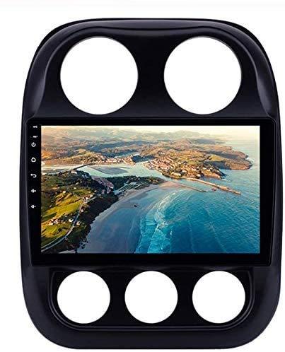 BUSUANZI GPS Nav Navegación con Enlaces con Espejo Bluetooth Android WiFi - para Jeep Compass Sat Nav 2010-2019 Coche Stereo Multimedia Radio Auto Player,4g+2g+32g