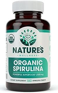 Sponsored Ad - USDA Organic Spirulina Tablets - Non-GMO Green Superfood Supplement: 3000mg of Fresh Blue Green Algae, Vega...