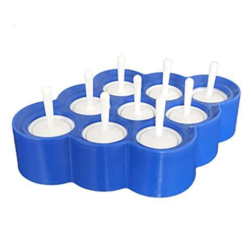 BaZhaHei Eiswürfelformen Schalen Cartoon Tier Silikon Eiswürfelform kann wiederverwendet Werden Einfach zu entformen 9 Gitter Spielzeug Mini-Silikonform für EIS am Stiel (Blau)