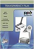 "PPD Inkjet - A4 x 100 Hojas de Transparencias ""OHP"" Premium para Retroproyector - Láminas de Acetato Transparente - Para Impresión de Inyección de Tinta - PPD-34-100"