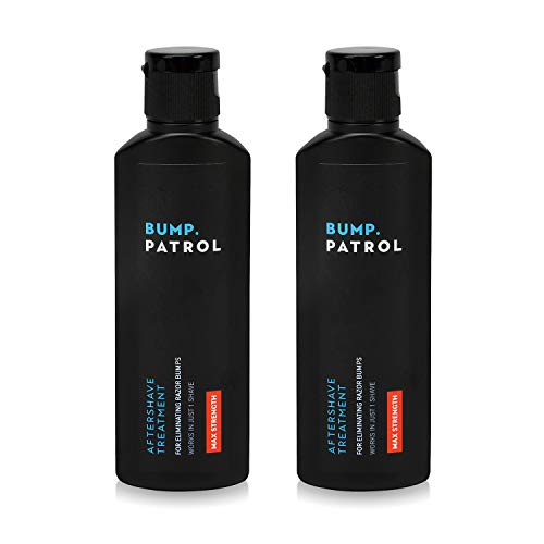 Bump Patrol Maximum Strength Aftershave Formula - After Shave Solution Eliminates Razor Bumps and Ingrown Hairs,2 Fl Oz (Pack of 2)