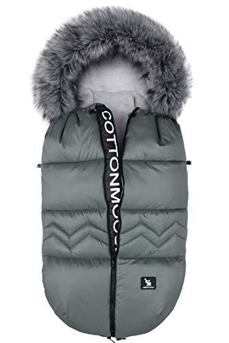 Saco de invierno dormir térmico para carrito silla de bebé universal abrigo polar Cottonmoose Moose North (NORTH MOOSE 873 JUNGLE GREEN)