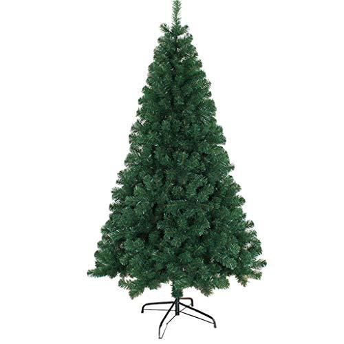 XiuHUa kerstboom - eenvoudig te installeren PVC bladeren kunstmatige kerstboom massief stalen buis beugel dichte groene familie - 2 maten kerstdecoratie