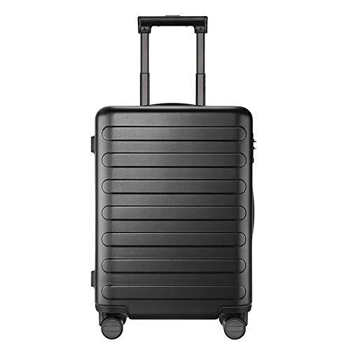 KQATCJ Ligero Equipaje de Carreras 20 Pulgadas Siete-Bar Maleta PC Spinner Spinner Lightweight Maleta con Bloqueo TSA para Viajar para Salir por Negocios (Color : Black, Luggage Size : 20')