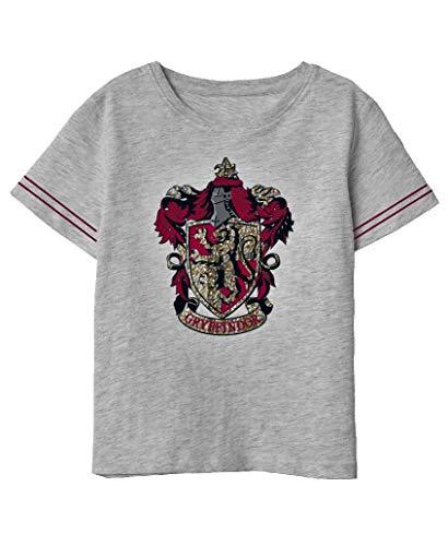 HARRY POTTER Bambina T Shirt Maniche Corte (Grigio Chiaro,14 Anni)
