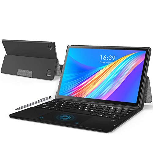 Tablet 10 Pollici 8-Core 2.3GHz Android 9.0 Pie 64 GB ROM  256GB 4 GB RAM Tablets PC 8000mAh | WiFi | GPS | Bluetooth |Type-C| Doppia Fotocamera (8MP+5MP) (Argento)