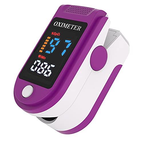 JUYIXIAN Pulsoximeter Oximeter Fingeroximeter Pulsoxymeter Fingerpulsoximeter SauerstoffsäTtigung MessgeräT Finger Sauerstoff Oxymeter BlutsauerstoffmessgeräT Pulse lila