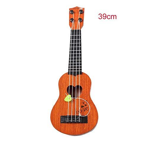 Wovemster Aprendizaje temprano Música Juguete-Mi música Mundo Niños y niñas Rock Instrumento musical Guitarra 39cm 1pcs (caqui)