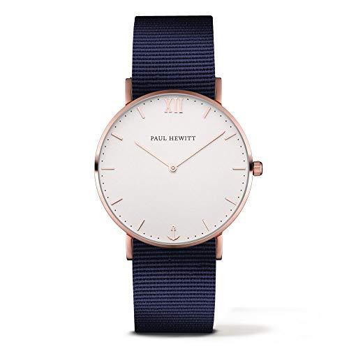 Paul Hewitt Unisex Analog Quarz Uhr mit Nylon Armband PH-SA-R-St-W-N-20S
