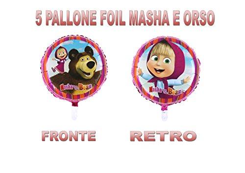 Party Store web by casa dolce casa Masha E Orso Pallone Foil Aria O Elio ADDOBBO Festa E TAVOLA - CDC (5 Pallone Foil)