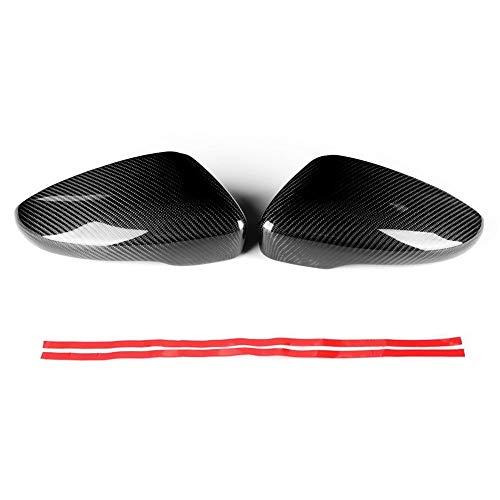 Outbit Rückspiegel - 2tlg. Car Carbon Rückspiegelabdeckung Fit für Golf MK6