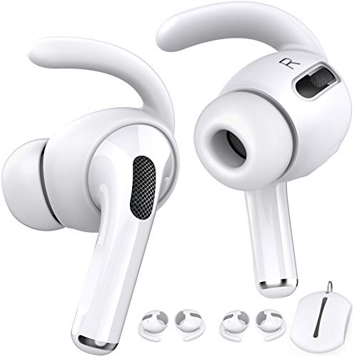 AhaStyle 3 Pairs AirPods Pro Ear Hooks [Added Storage Pouch] Anti-Slip Ear Covers Accessories【Not...