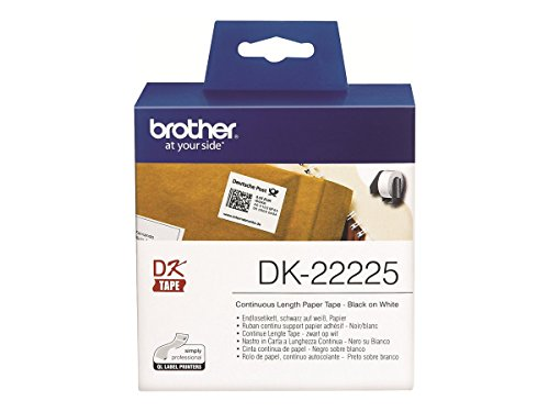 Brother DK22225 Endlosetiketten Papier 38mm x 30.48 für QL-550/500/500A/560VP/560/570/580N/650TD/1050/1050N/1060N