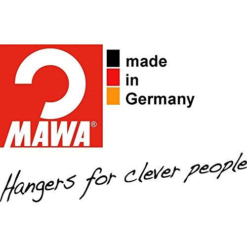 MAWAドイツのすべらないマワハンガーレディーススリム・ジュニアサイズエコノミック36P10本組シルバー