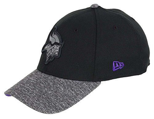 New Era Minnesota Vikings 39thirty Cap NFL Grey Collection Black/Grey - S-M